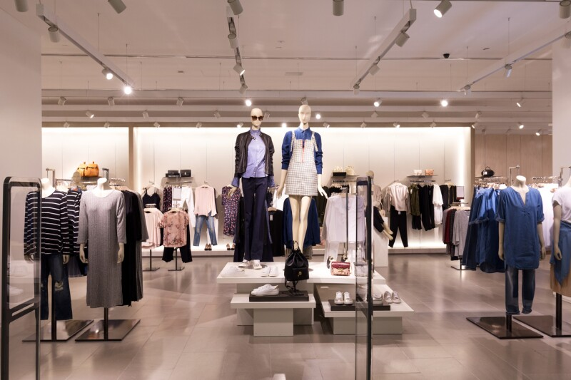 interior of modern fashion shop