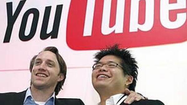 Los fundadores Chad Hurley y Steve Chen vendieron a Google su portal de videos, en junio del 2007, por más de 1,600 millones de dólares. Foto: Reuters