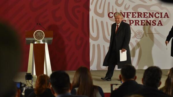 AMLO en la conferencia del 14 de enero de 2019