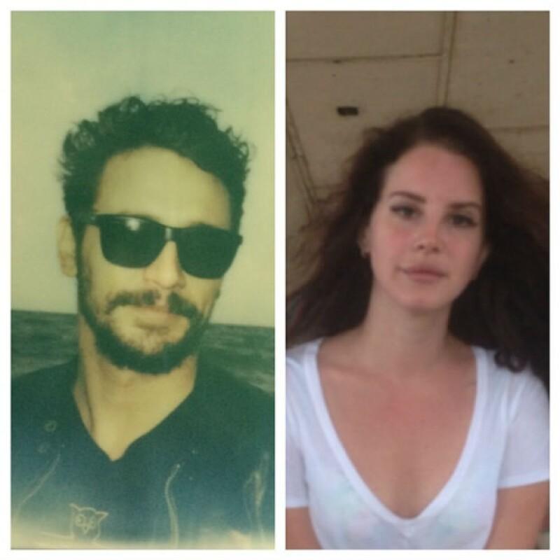 James Franco ha compartido varias fotos junto a Lana del Rey como ésta en la que aparecen los dos divididos por una línea blanca y a la cual tituló `Fun in the rockaways´.