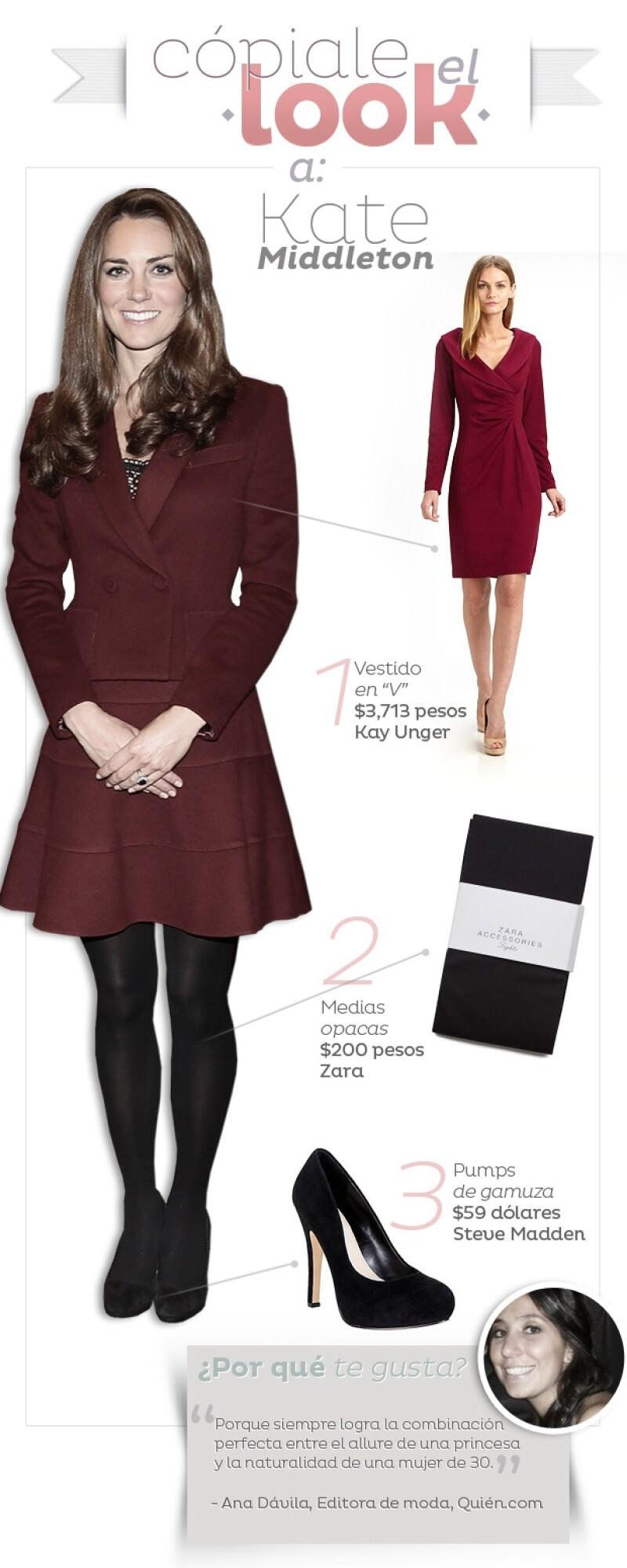 La duquesa de Cambridge se ha colocado como el máximo exponente del `high-street fashion´. Aquí te decimos cómo imitar su estilo.