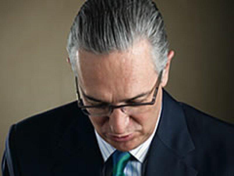 Ricardo Salinas Pliego, presidente de Grupo Salinas, captado en su oficina el pasado  de febrero. (Foto: Duilio Rodríguez)