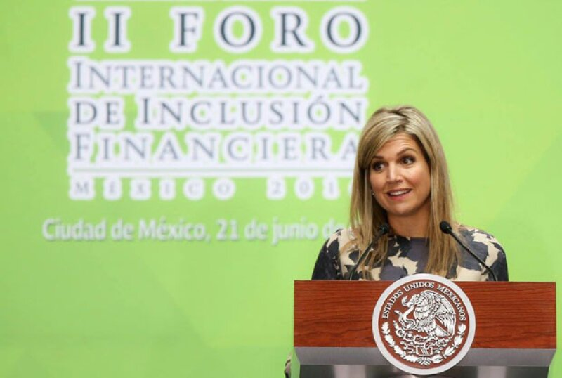 La reina habló de la importancia que tendrá la implementación de la nueva política de inclusión financiera.