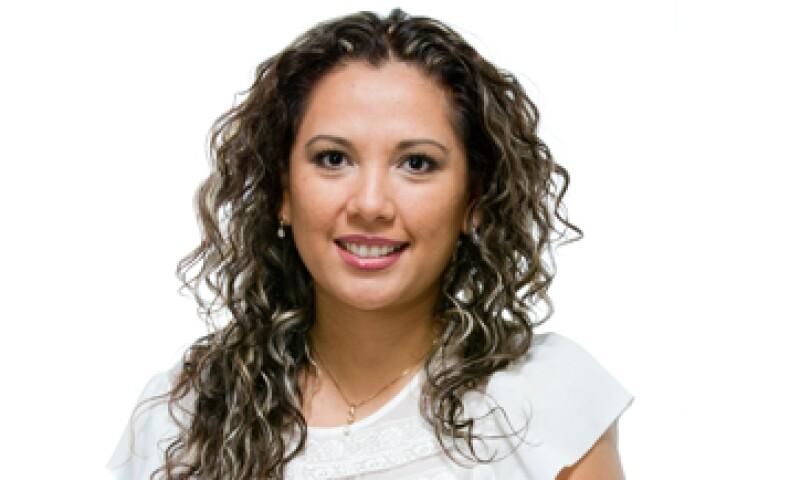"""""""Para cualquier función estratégica es necesaria la capacitación continua"""", dice Claudia Pérez de Banamex, una de las 30 promesas en los 30 edición 2013 de la revista Expansión. (Foto: Dayan Jiménez/Jorge Garaiz)"""