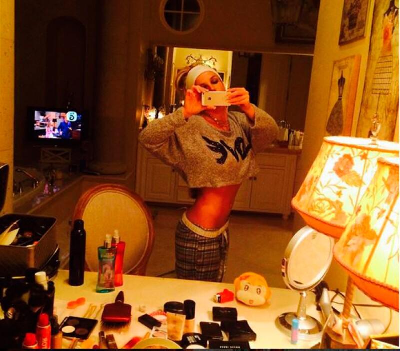 La cantante comparte con frecuencia fotos de los resultados de su disciplina.
