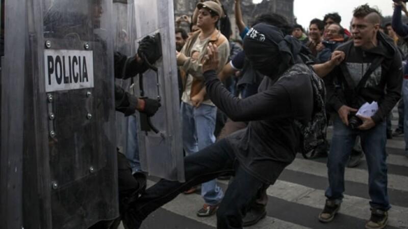 disturbios 10 de junio Zócalo