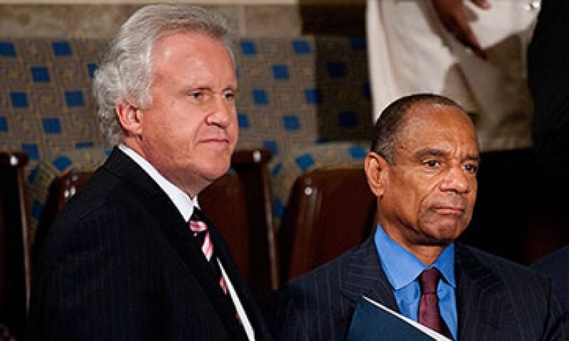 El CEO de General Electric, Jeffrey Immelt, y el director de American Express, Kenneth Chenault son algunos de los invitados a la Casa Blanca.  (Foto: Cortesía CNNMoney)