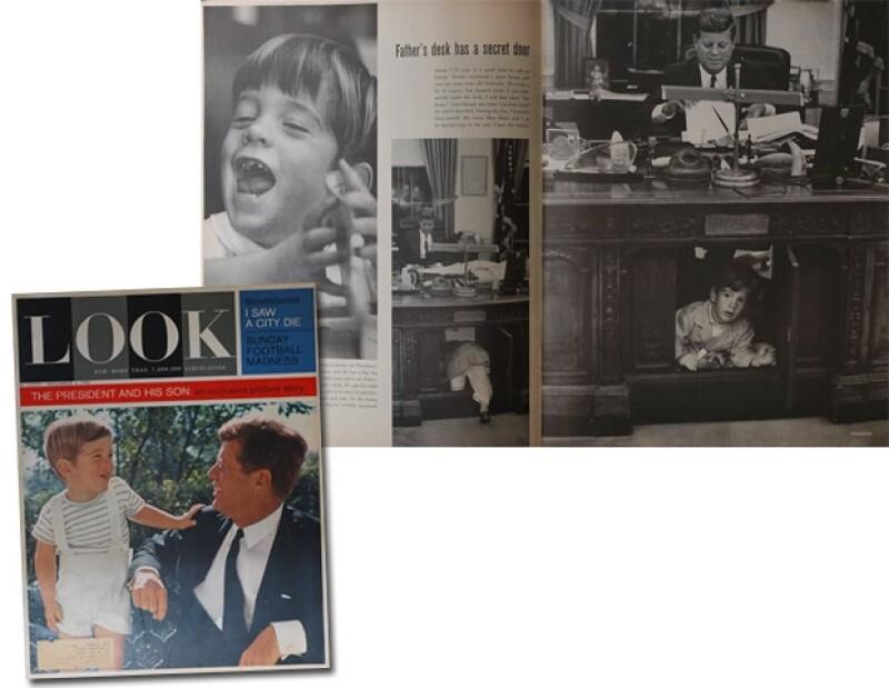 La revista Look publicó en diciembre de 1963 varias fotos de J.F Kennedy en familia mientras vivía en la Casa Blanca.