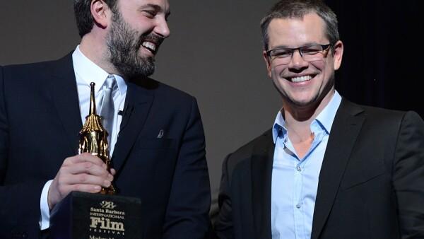 Ben Affleck y Matt Damon.Ambos bostonianos, ambos hicieron juntos `Good Will Hunting´ y desde entonces son inseparables. Incluso viven a unas cuadras el uno del otro.