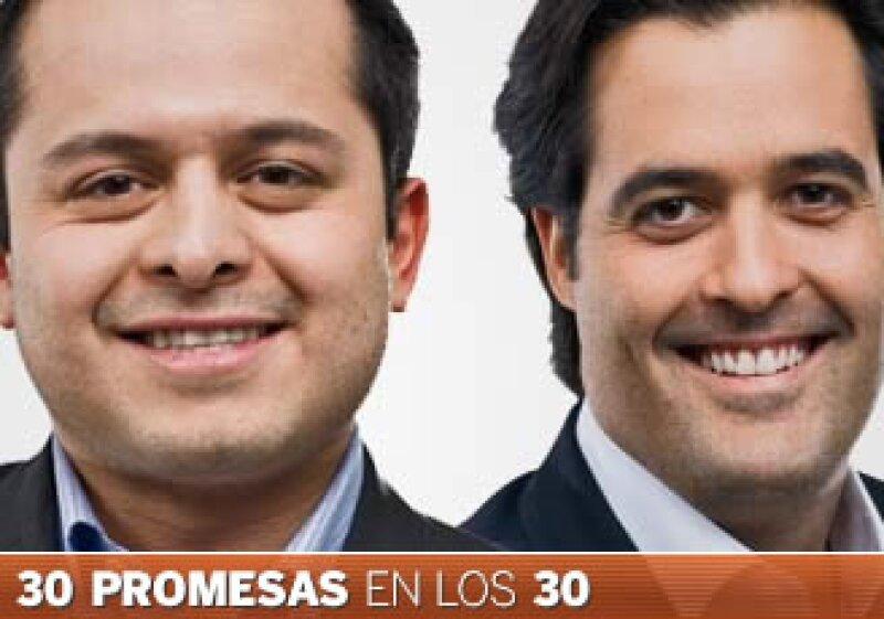 Othón López y Eduardo Lebrija buscan los mejores resultados para sus empresas, Totalplay y MTV Networks México, respectivamente. (Foto: Especial)