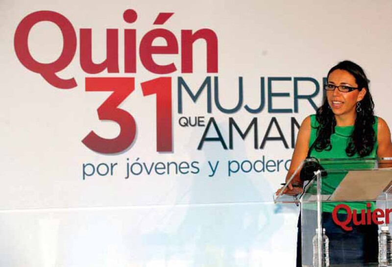 Laura Manzo, editora general de Quién®, durante el primer evento de 31 mujeres que amamos.