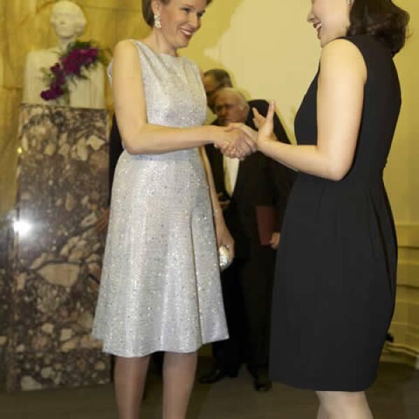 Mathilde se convirtió en Reina tras la abdicación de su suegro.