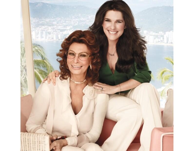 Sophia Loren y Martha Debayle hicieron muy buena química.