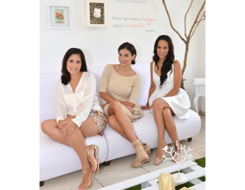 La modelo, su hermana Atziry y su amiga Sandra Larios comenzaron esta nueva aventura.