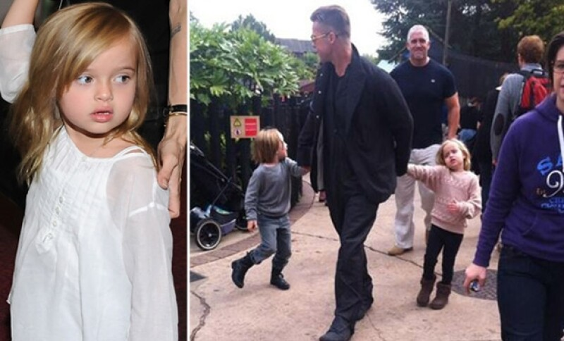 Vivienne ha crecido exponencialmente. A la derecha, Pitt con su hijo Knox y la pequeña durante un paseo a Legoland en Windsor, Inglaterra hace unos meses.