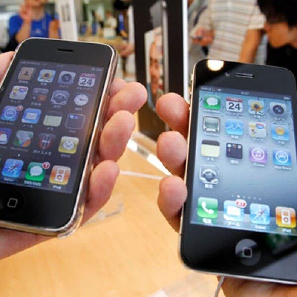 Una comparativa entre el nuevo iPhone 4 y su anterior versión, el 3GS.