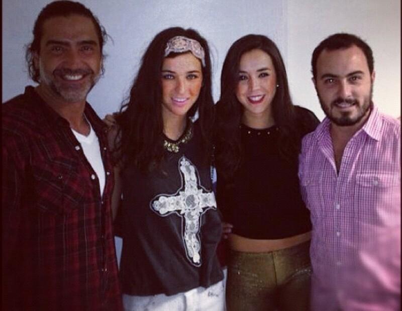 Alejandro Fernández, Karla Laveaga, Andrea Laveaga y Jorge Fregoso.