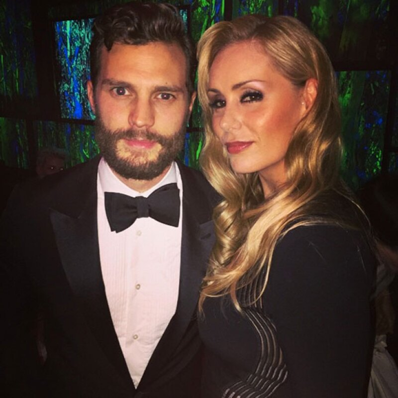 El actor de Fifty Shades of Grey posó junto a Heidi en una foto.