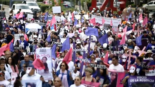 Cientos marcharon en la CDMX para exigir un freno a los feminicidios