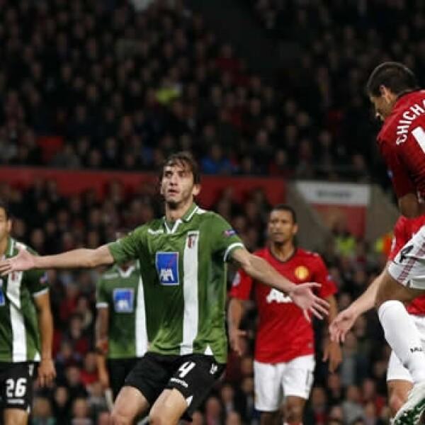 javier hernandez gol contra Braga