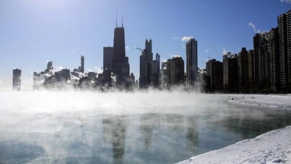 En Chicago se siente más frío que en la Antártida