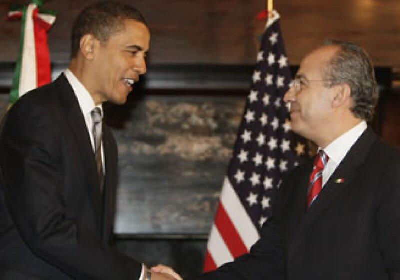 Barack Obama se reunirá nuevamente con Felipe Calderón este fin de semana. (Foto: Archivo AP)