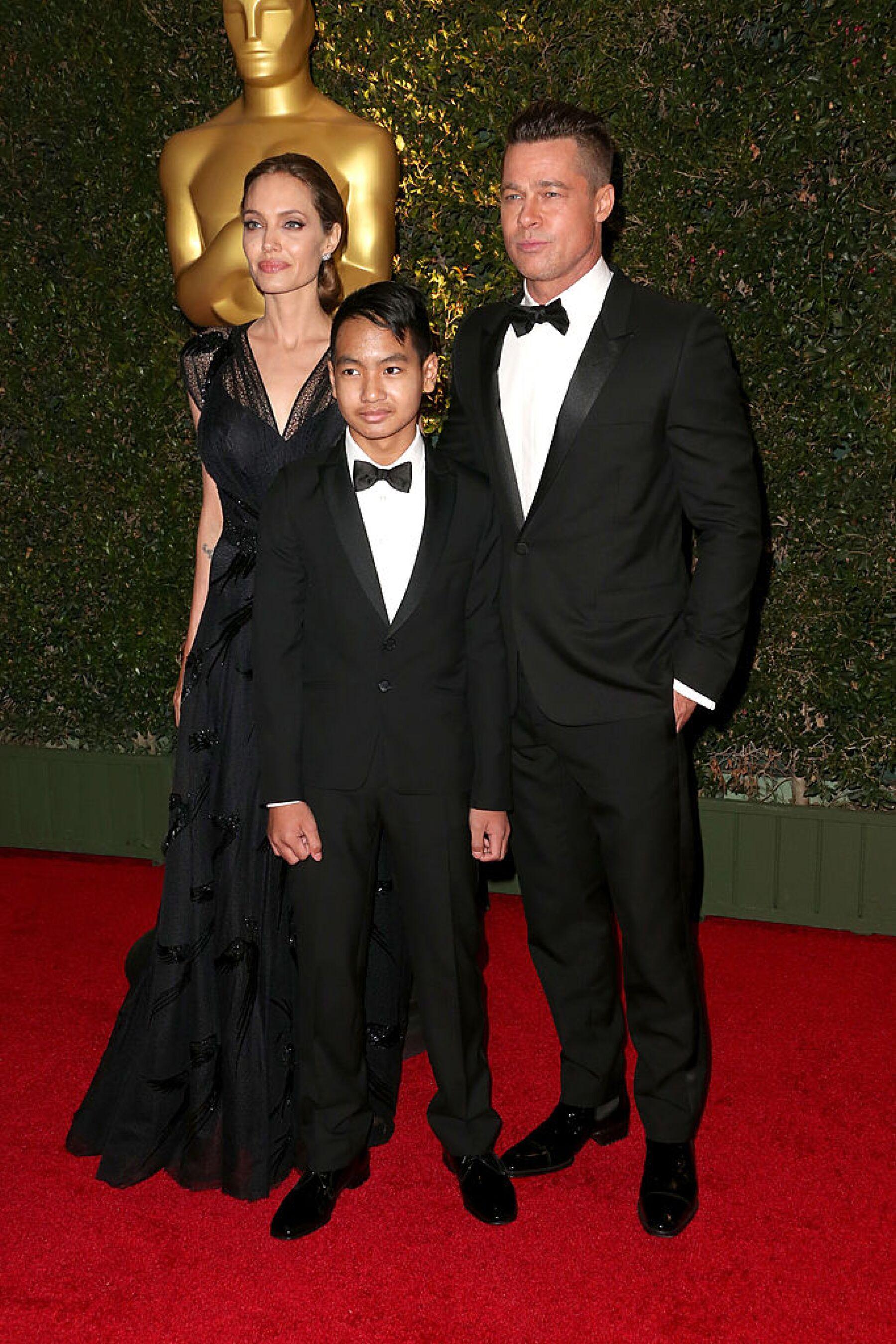 Brad Pitt, Angelina Jolie y Maddox