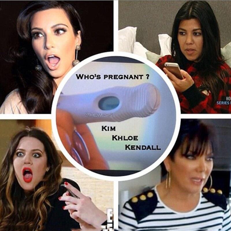 La bromista Khloé juega con sus seguidores de Instagram a que alguien de su familia podría estar esperando un bebé.