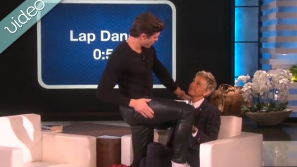 Zac Efron visitó el programa de Ellen y demostró sus pasos de baile con un sexy lap dance, aunque minutos más tarde dejó mucho que desear con su intento por twerkear.