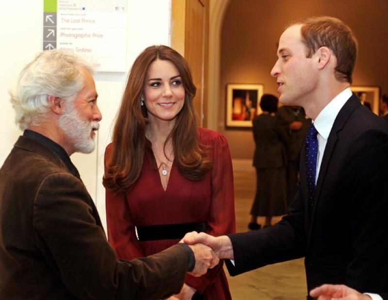 Los Duques con el pintor Emsley.