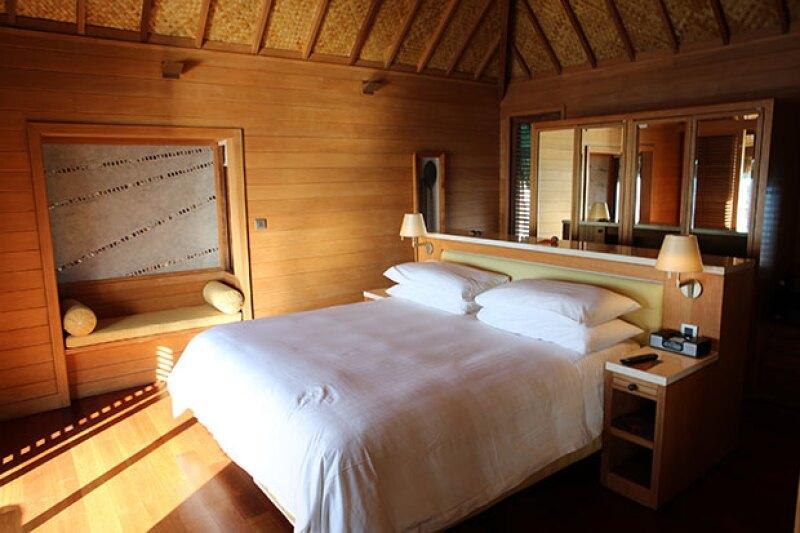 Aunque el lugar es completamente de madera, tiene todos los lujos de un hotel exclusivo.