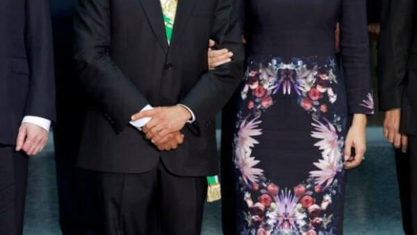 Este martes se llevó a cabo el Segundo Informe del presidente de México en Palacio Nacional, al cual asistieron funcionarios, empresarios y por supuesto los hijos y la esposa del presidente.