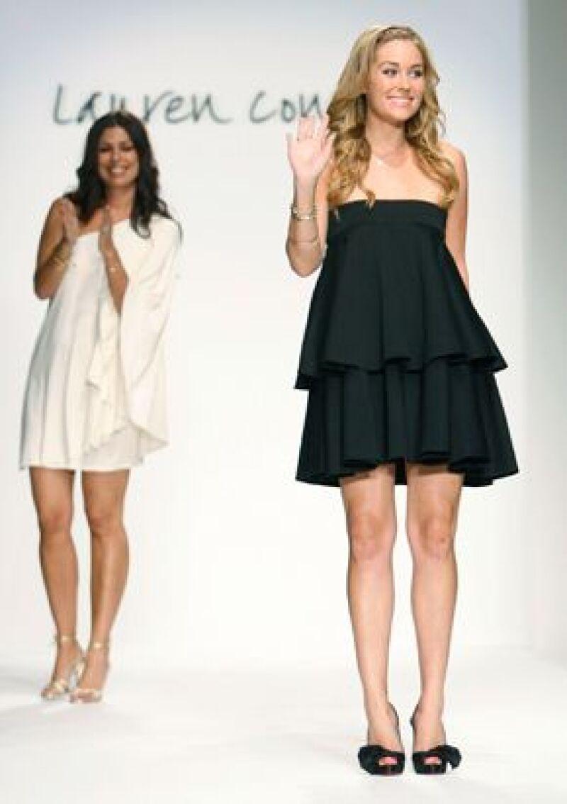 La actriz protagonista de la serie televisiva The Hills dio a conocer su segunda colección en la Semana de la Moda de Los Ángeles.