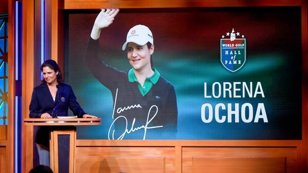 Lorena Ochoa da el discurso más emotivo al ingresar al Salón de la Fama del Golf
