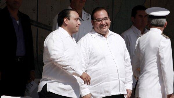 Roberto Borge y Javier Duarte