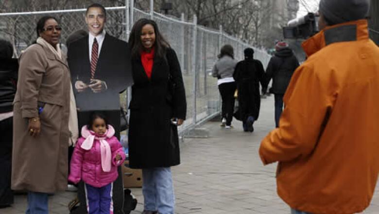 Durante su visita a Washington, muchas personas se tomaron la foto con el próximo presidente de EU.