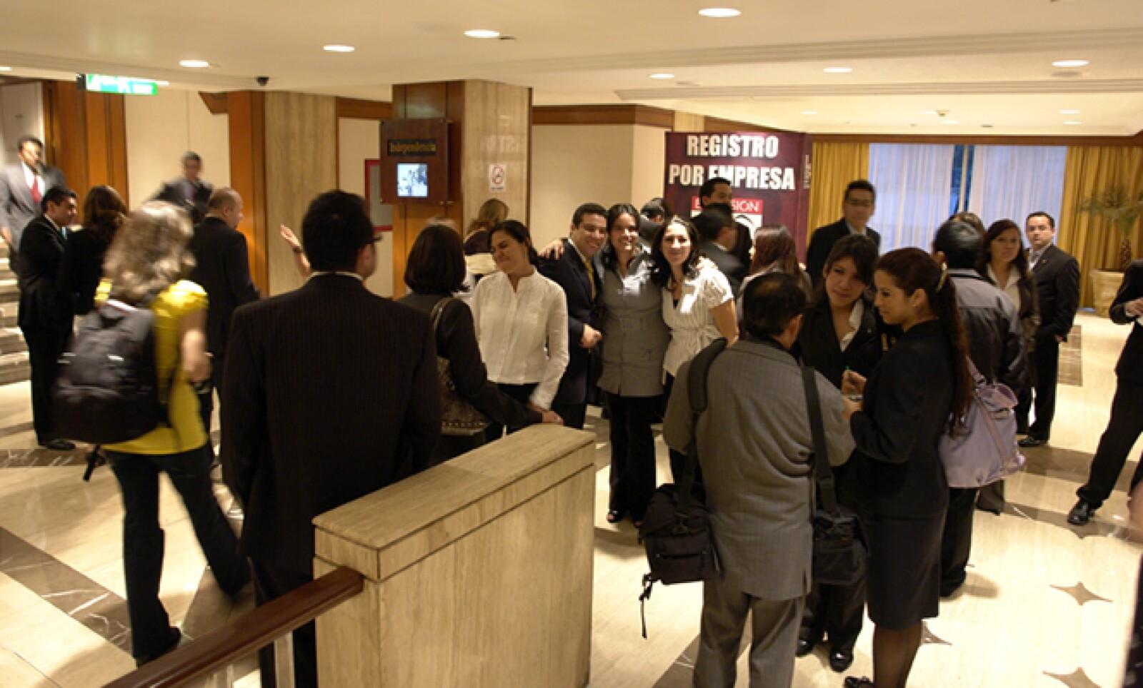 Directivos y colaboradores se dieron cita en el hotel Sheraton María Isabel de la Ciudad de México. Esta empresa hotelera se colocó en el lugar 17 del ranking de compañías con menos de 500 empleados.