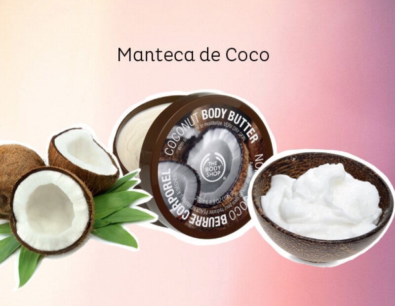 The Body Shop también tiene una manteca de coco espectacular. thebodyshop.com.mx