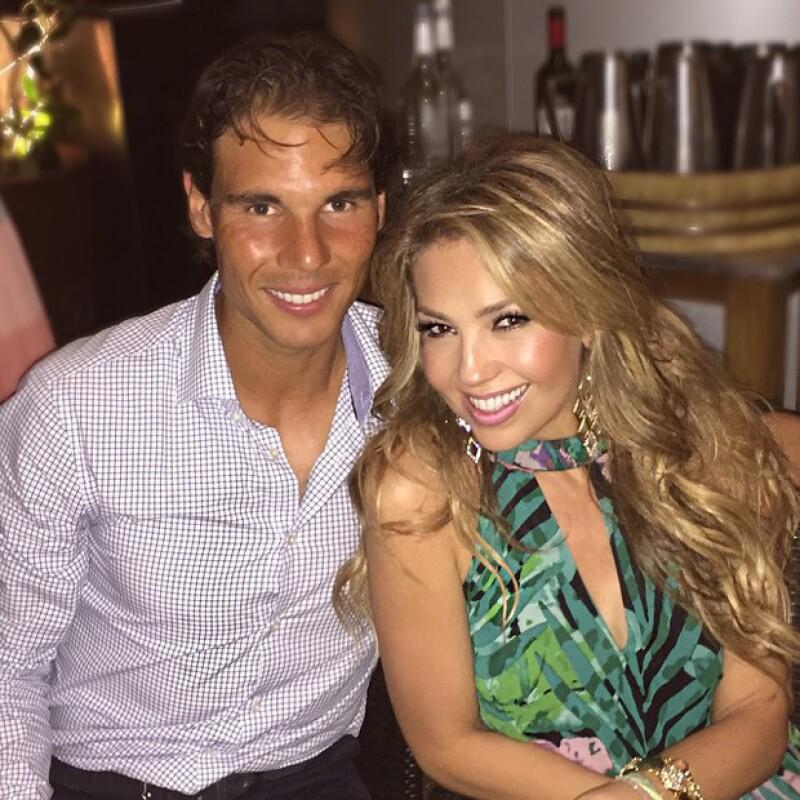 La cantante presumió su fotografía con el exitoso tenista profesional.
