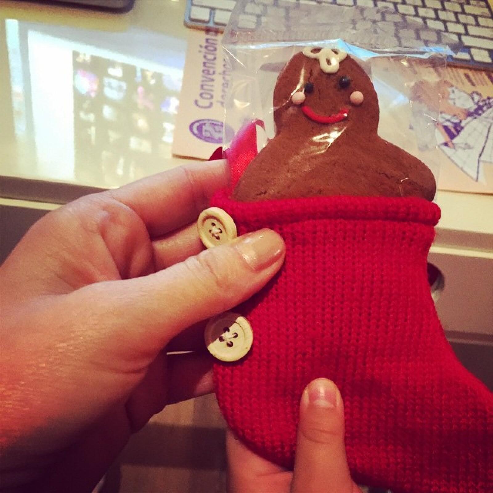 Thalía compartió esta christmas cookie que compró para su hijo Matthew.