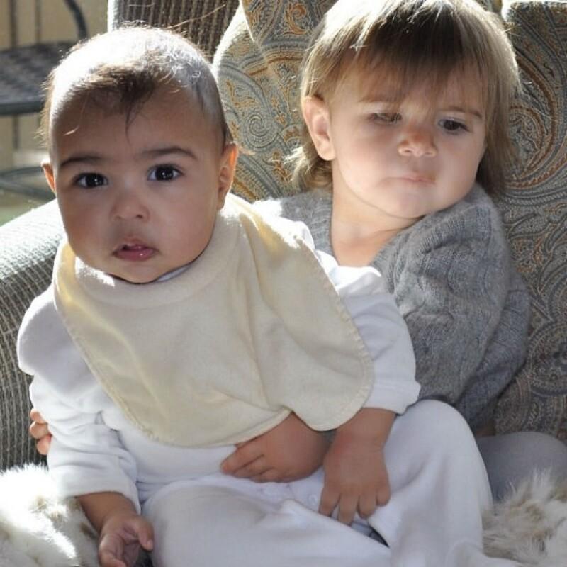 Las integrantes más pequeñas y tiernas del clan Kardashian: North y Penelope.
