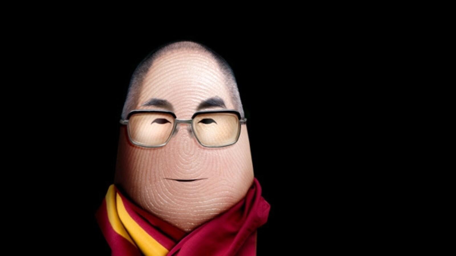 dito, dedos, dalai lama