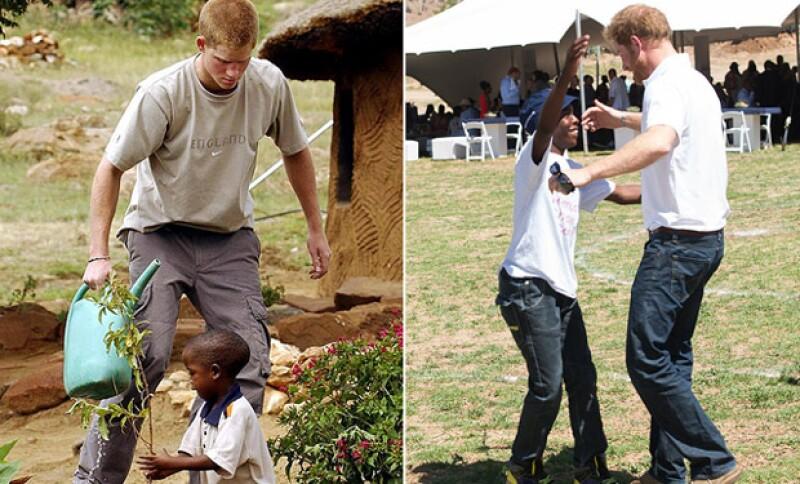 El royal se mostró feliz de reencontrarse con su amigo, a quien hacía conocido en el 2004 en Lesoto, África.