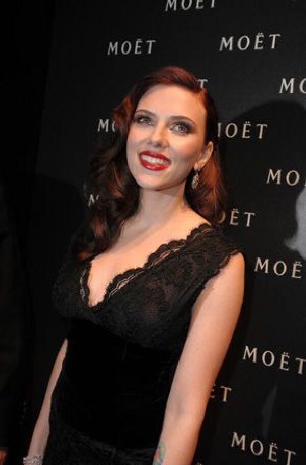 Johansson es la primera cara de Hollywood en una campaña de Moët & Chandon.