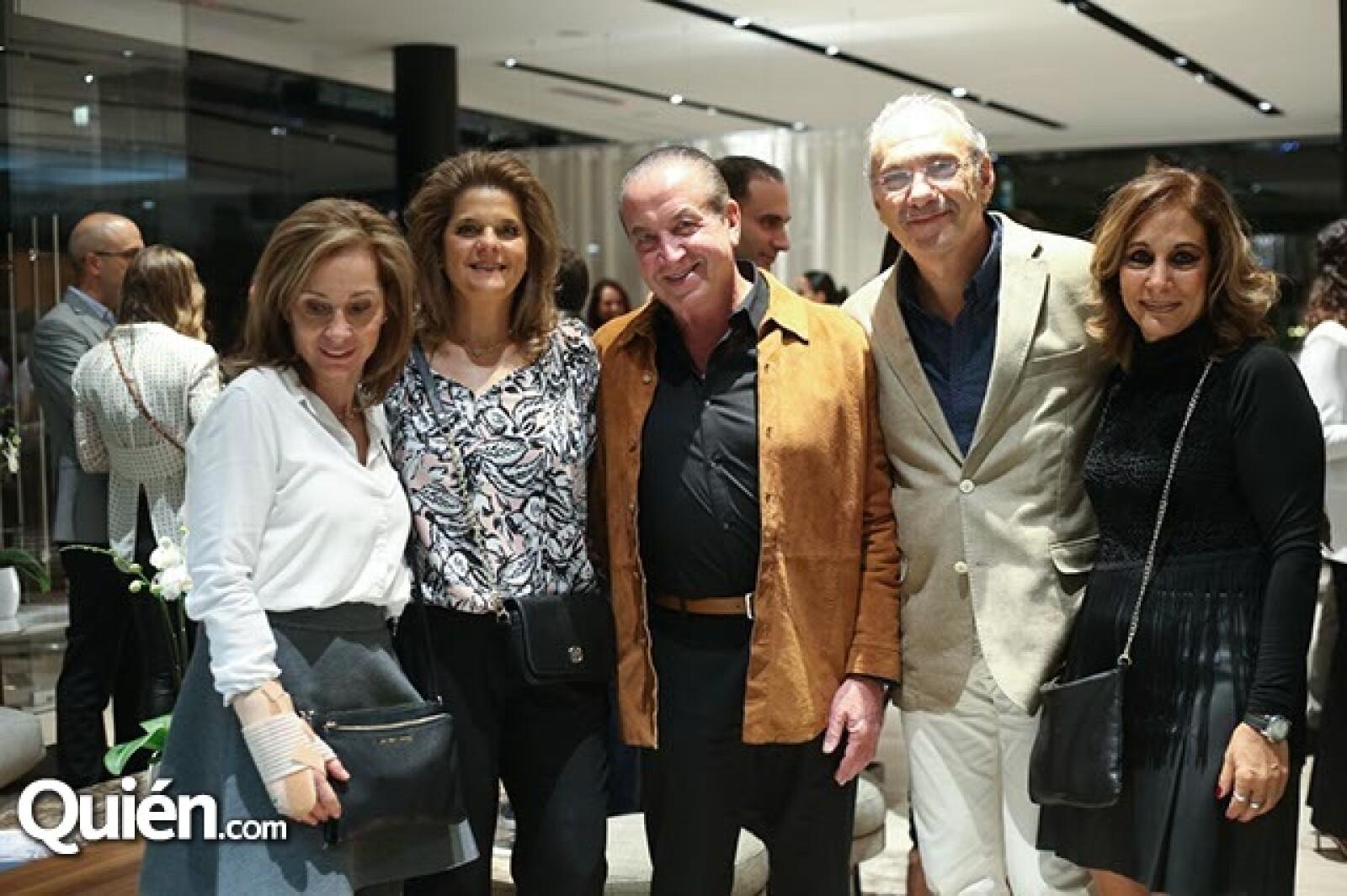 Fanny Levy,Emilia y Alberto Bissu con Alberto y Meri Levy
