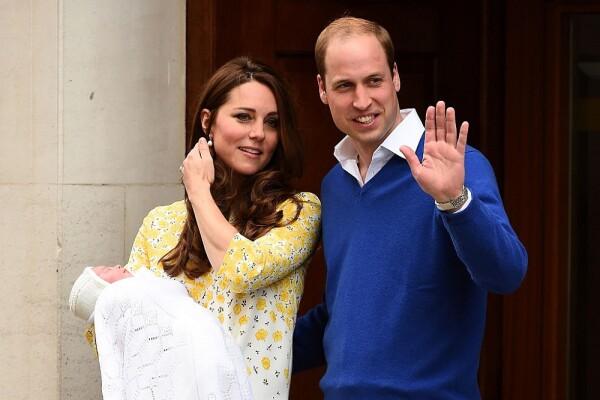 La princesa Charlotte, Kate Middleton y el príncipe William