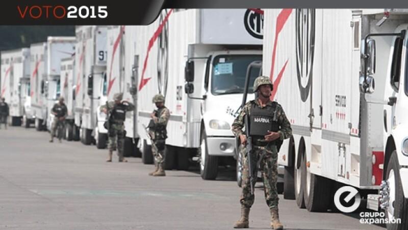 boletas electorales, resguardo militar