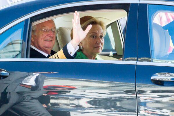 Alberto de Bélgica y la reina Paola