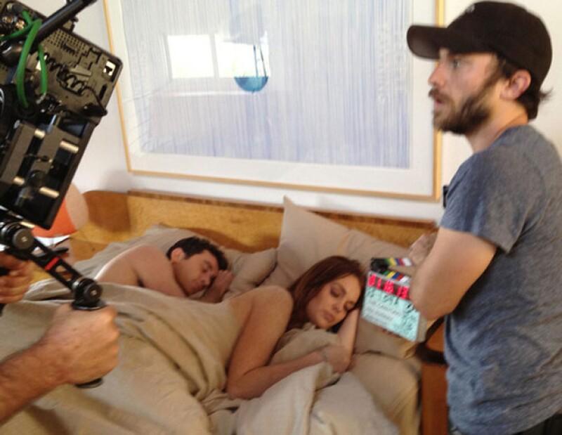 La controvertida actriz pidió al equipo de producción de la película `The Canyons´ que se desnudara, para que pudiera hacer una escena sexual.