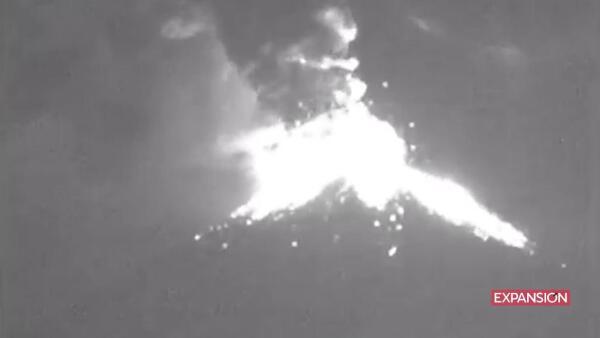 El Popocatépetl tuvo un 14 de febrero muy activo